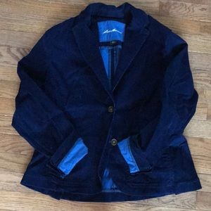 Eddie Bauer size 12 royal blue corduroy jacket